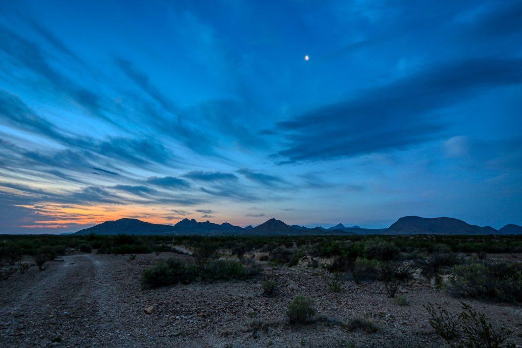 blue hour landscape